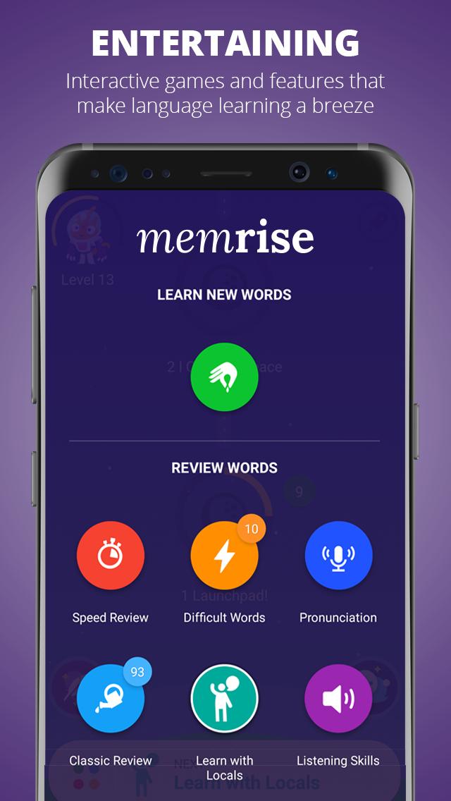 memrise تقویت دایره لغات